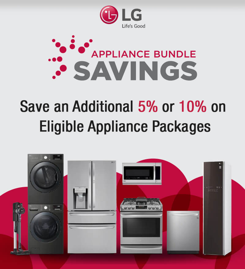LG Appliance Bundle Savings Offer